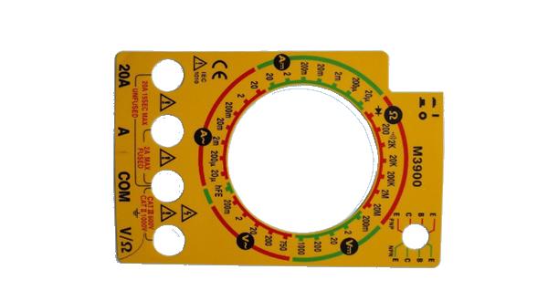 电子电表,仪表所需求PET面板,铭板
